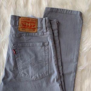 RETRO Levi 513 Gray 31 x 30 jeans Exec cond